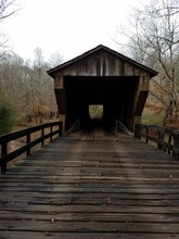 Red Oak Creek Covered Bridge In Woodbury, Georgia