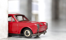 Toy Model Car, Old Red Toy Car