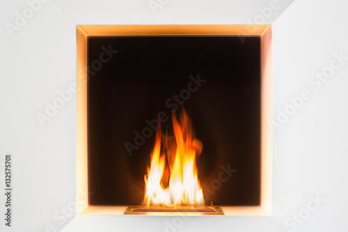 Feuer Im Ethanol Kamin Acheter Cette Photo Libre De Droit