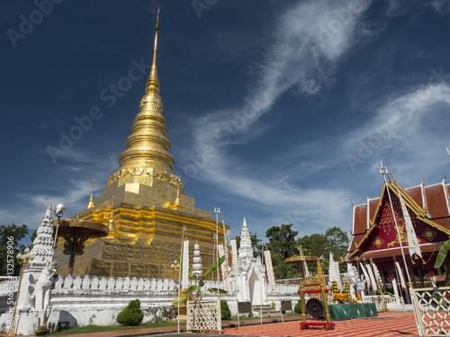 Wat Phra That Chae Haeng Phu Phiang, the grand temple in Nan pro Wallpaper Mural