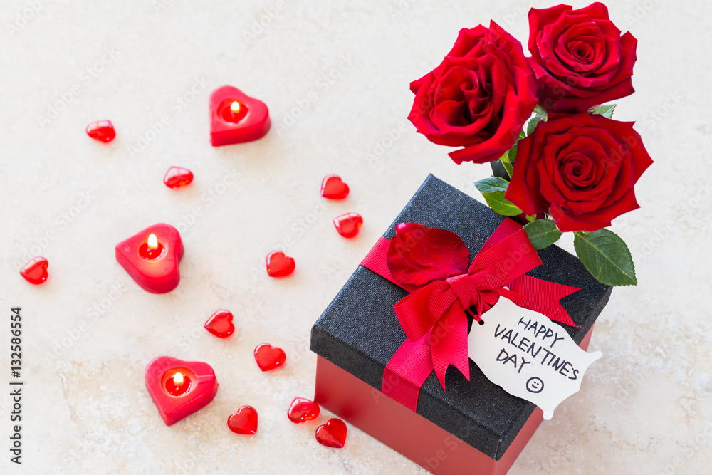 Valentine Gift Valentines Concept With Bouquet Of Roses Heart
