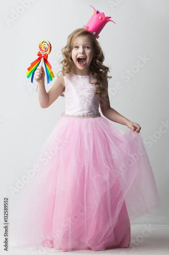 Fotografie, Obraz  Candy princess girl