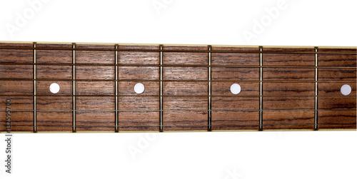Spoed Foto op Canvas Muziekwinkel Guitar neck isolated on white background