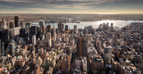 Foto  View of the Lower East Side of Manhattan