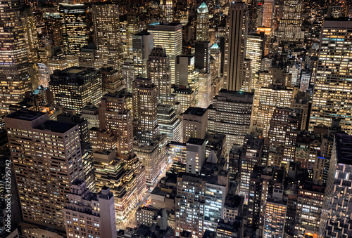 Bright city lights of New York City, USA Tablou Canvas