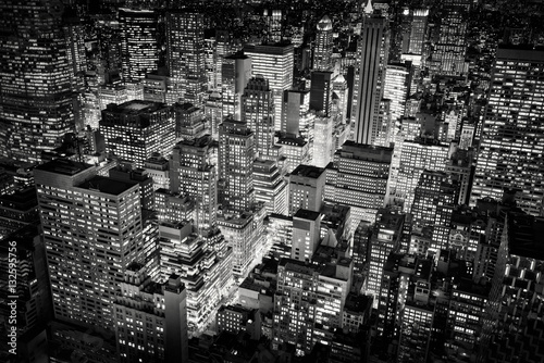 Fotografie, Tablou Bright city lights of New York City, USA