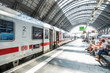 canvas print picture - Traffic Frankfurt am Main - Bahnhof