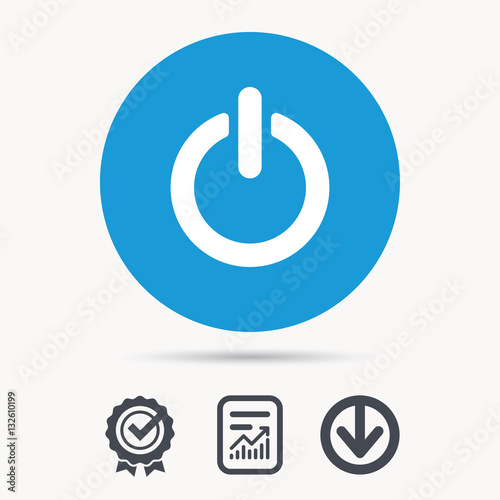 On Off Power Icon Energy Switch Symbol Achievement Check