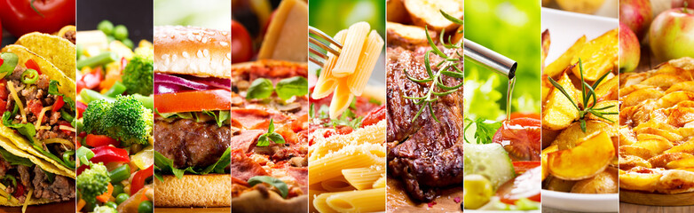 Fototapeta collage of food products
