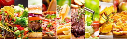 Tuinposter Eten collage of food products