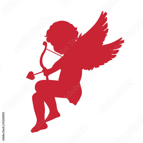 cupid icon. Valentine's Day concept. vector illustration Canvas Print