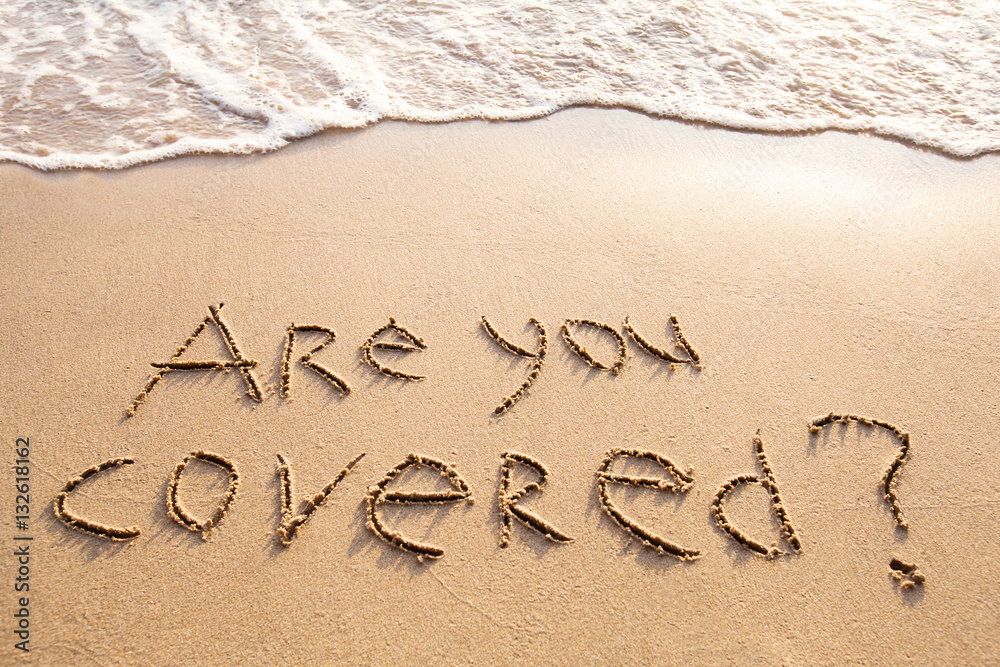 Fototapety, obrazy: are you covered, travel insurance concept