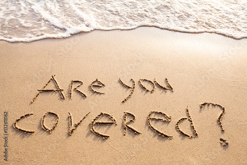 Fotografía  are you covered, travel insurance concept