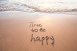 Leinwanddruck Bild - time to be happy, happiness concept