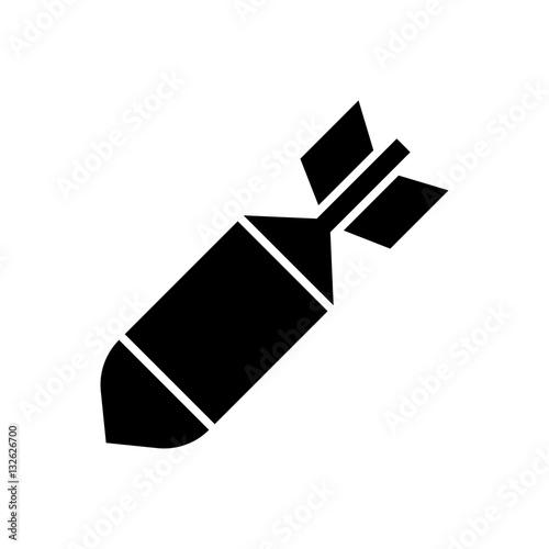 Photo  Air bomb icon vector