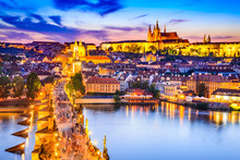 Prague Castle And Charles Brid...