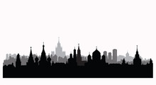 Moscow City Buildings Silhouet...
