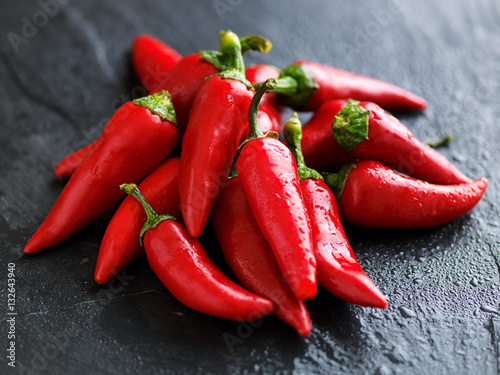 Fotografie, Obraz  pile of  spicy fresno peppers
