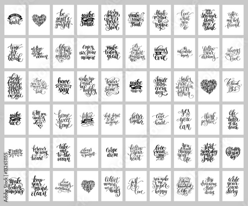 Photo  mega set of 60 hand written lettering positive inspirational quo