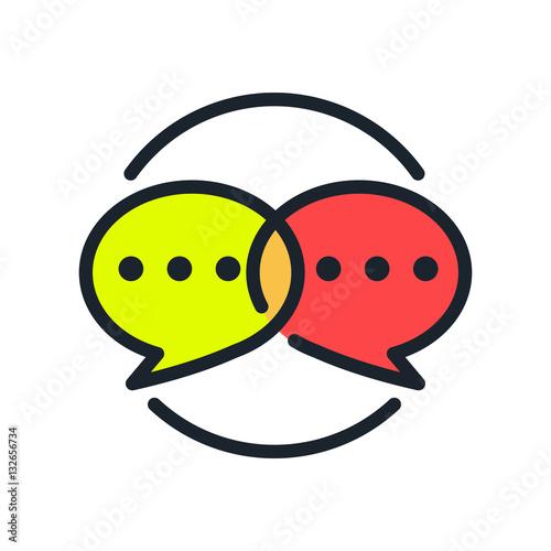 Fotografie, Obraz  social chatting icon color