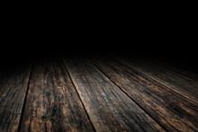 Grunge Plank Wood Floor Textur...
