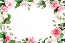 Round Frame Made Of Pink And B...