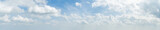 Fototapeta Na sufit - Panorama of white cloud and blue sky in morning