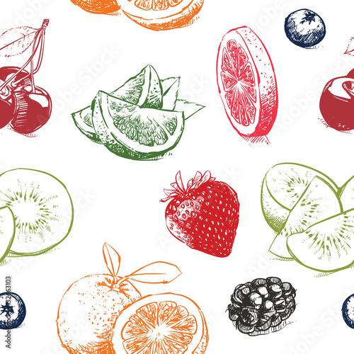 kolorowe-wycieniowane-wektorowe-owoce-na-bialym-tle