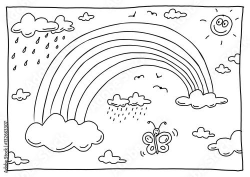 bilder malvorlagen regenbogen  kinder zeichnen und ausmalen