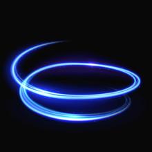 Blue Vector Light Whirlpool, Luminous Swirling, Glowing Spiral Background