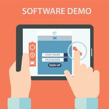 Software Demo Testing Vector