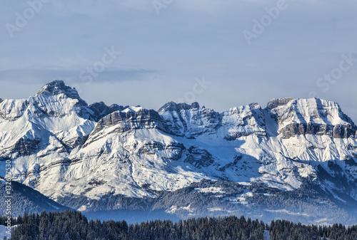 Foto auf Gartenposter Gebirge Winter Landscape