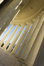 Circular Colonnaded Ionic Fluted Columns On The South-side Of The Thomas Jefferson Memorial, West Potomac Park, National Mall & Memorial Parks, Washington DC