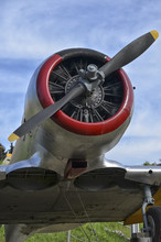 Radial Engine Of A North American T-6