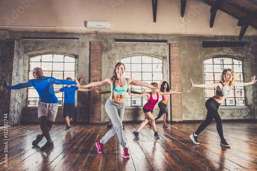 Fotobehang Dance School Workout in a fitness gym
