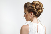 Elegant Wedding Hairstyle On A...