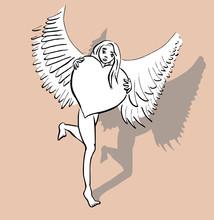 Papier Engel - Liefde
