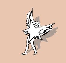 Papier Engel - Ster