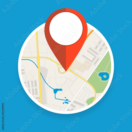 Navigation geolocation icon. Wall mural