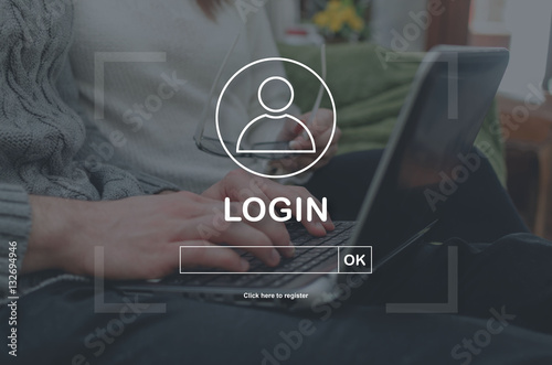 Canvas Prints Countryside Concept of login