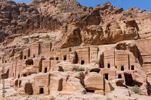 Fotografie, Obraz  Group of caves and tombs in Petra, Jordan