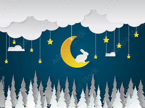 nocny-krajobraz-z-krolikiem-na-ksiezycu
