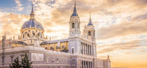 Spoed Fotobehang Madrid The Cathedral of Madrid