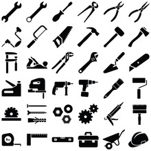 Construction Tool Icon Collect...