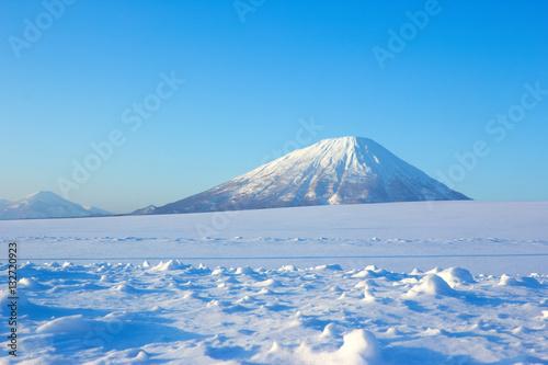 Fotografie, Obraz  冬の羊蹄山とアンヌプリ