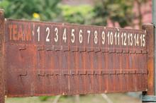 Old Scoreboard Rusty