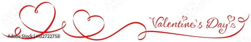 Photo Red heart-shaped ribbon - Valentine's day