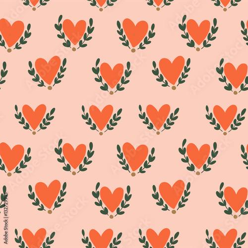 Materiał do szycia Jednolity wzór serca