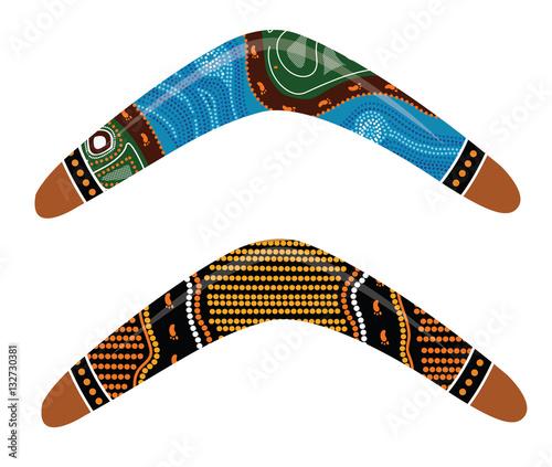 Photo Australian boomerang vector.