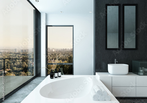 Fototapety, obrazy: Modern spacious hotel bathroom interior
